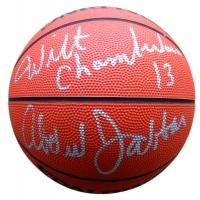 Wilt Chamberlain & Kareem Abdul-Jabar Signed NBA Basketball (Fanatics)
