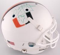 "Jim Kelly Signed University of Miami Full-Size Authentic On-Field Helmet Inscribed ""The ""U"""" (JSA COA)"