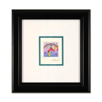 "Peter Max Signed ""Cosmic Jumper"" Limited Edition 10x10 Custom Framed Lithograph #468/500"