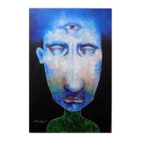 "Berberyan Signed ""Third Eye"" 24x36 Original Mixed Media on Canvas"