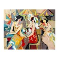 "Isaac Maimon Signed ""Spring Flowers"" 30x24 Original Acrylic Painting on Canvas at PristineAuction.com"