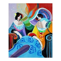 "Isaac Maimon Signed ""Class & Casual"" 24x31 Original Acrylic Painting on Canvas"