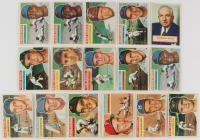 Lot of (16) 1956 Topps Baseball Cards with 2A Warren Giles, #35 Al Rosen