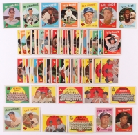 Lot of (109) 1959 Topps Baseball Cards with  #531 Ray Webster RC, #262 Hitters Foes / Johnny Podres / Clem Labine / Don Drysdale, #480 Red Schoendienst