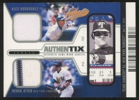 2004 Fleer Authentix Game Jersey Dual Unripped #ARDJ Alex Rodriguez / Derek Jeter