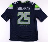 "Richard Sherman Signed Seahawks Jersey Inscribed ""Optimus Prime"" (Sherman COA)"