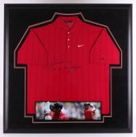 "Tiger Woods Signed 40x40 Limited Edition Custom Framed Nike Polo Inscribed ""08 US Open Champion"" (UDA COA)"