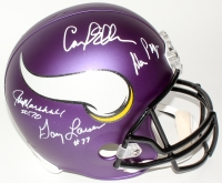 "Vikings ""Purple People Eaters"" Full-Size Helmet Signed by (4) with Alan Page, Carl Eller, Jim Marshall & Gary Larsen (TSE Hologram)"