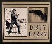 "Clint Eastwood Signed ""Dirty Harry"" 22x26 Custom Framed Photo Display with Replica Gun (JSA LOA)"