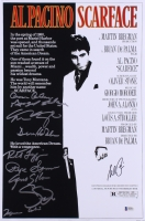 """Scarface"" 11x17 Movie Poster Photo Signed By (10) Cast Members Including Al Pacino, Robert Loggia, Steven Bauer (Beckett LOA)"