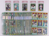 1986 Topps Football Complete Set of (396) Cards with #161 Jerry Rice RC (PSA 7.5), #374 Steve Young RC (PSA 7), #275 Reggie White RC (PSA 7), #11 Walter Payton AP (PSA 8.5), #20 William Perry RC (PSA 8)