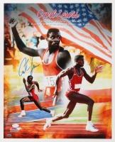 Carl Lewis Signed 16x20 Photo (JSA & Leaf COA)