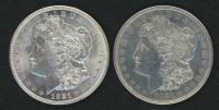 Lot of (2) 1921 Morgan Silver Dollars
