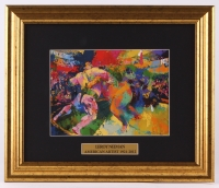 "LeRoy Neiman ""Sumo Wrestling"" 13.5x16 Custom Framed Print Display"