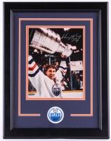 Wayne Gretzky Signed Oilers 14.5x18.5 Custom Framed Photo Display (UDA COA)