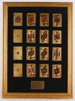 24K Gold Playing Cards 18.25x25.25 Custom Framed Display