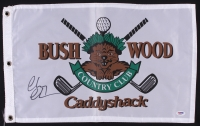 """Chevy Chase Signed """"Caddyshack"""" Bushwood Country Club Golf Pin Flag (PSA COA) at PristineAuction.com"""