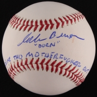 "Corbin Bernsen Signed OML Baseball Inscribed ""Dorn"" & ""Strike This Mother F*@#r Out!"" (JSA COA)"