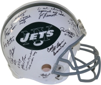 1969 Jets Full-Size Authentic On-Field Helmet Team-Signed by (24) with Joe Namath, Emerson Boozer, Matt Snell, Don Maynard with Inscriptions (Steiner COA) at PristineAuction.com