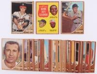 Lot of (53) 1962 Topps Baseball Cards with #54 NL Home Run Leaders / Orlando Cepeda / Willie Mays / Frank Robinson, #30 Eddie Mathews, #70 Harmon Killebrew