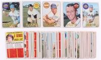 Lot of (68) 1969 Topps Baseball Cards with #35 Joe Morgan, #42 Tommy Harper, #130 Carl Yastrzemski, #412 Mickey Mantle