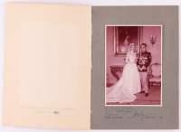 "Grace Kelly & Prince Rainier Signed Vintage 5x7 Photo In Photo Folder Inscribed ""With Affection"" (PSA LOA)"