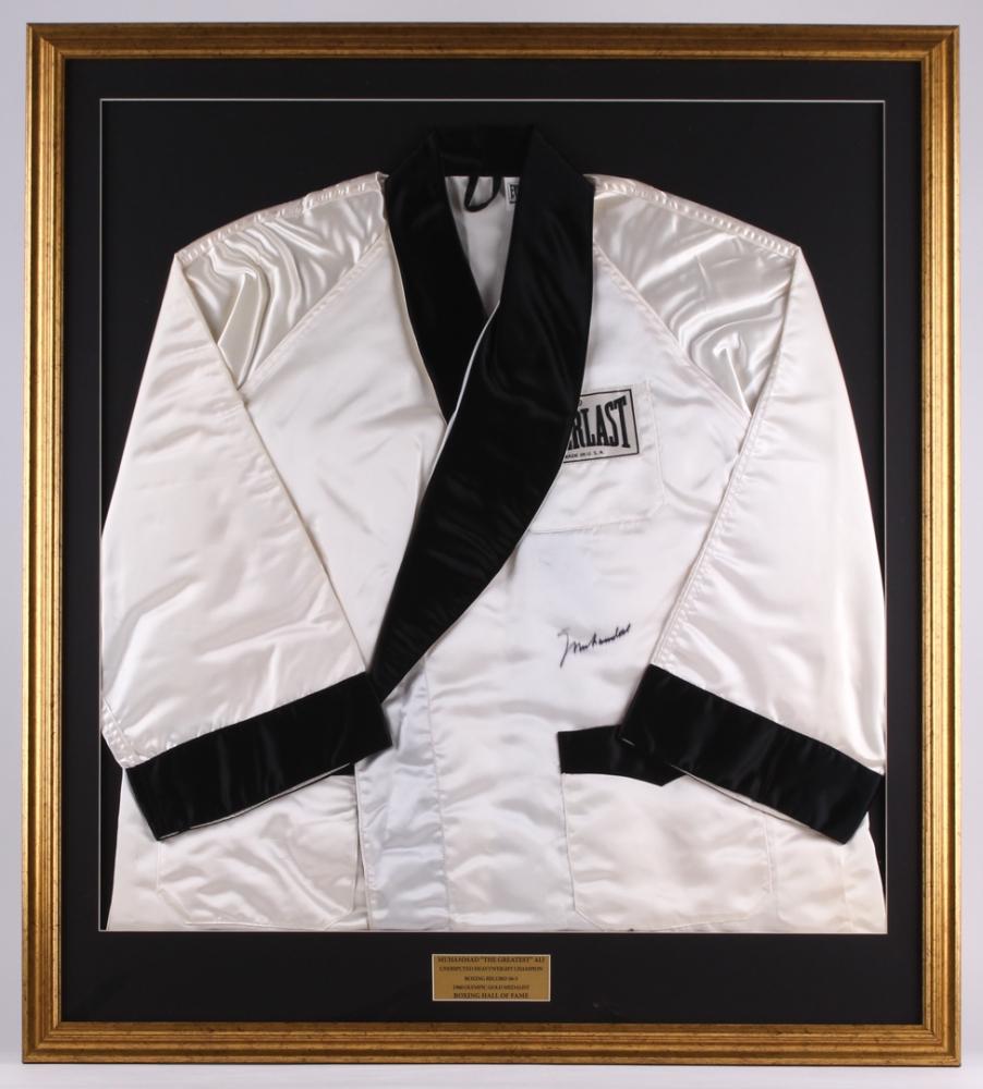 Muhammad Ali Signed 34.5x39 Custom Framed Everlast Boxing Robe (PSA LOA    Beckett LOA) c11280feb