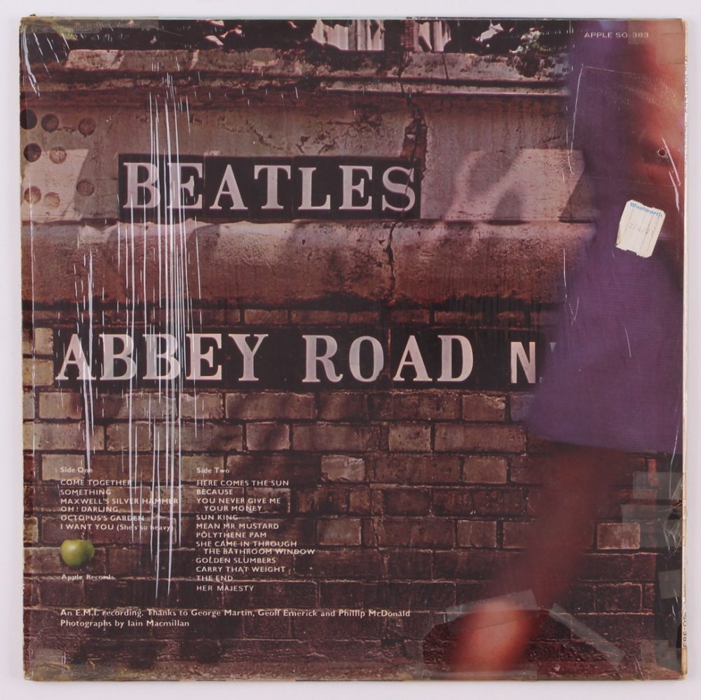Beatles Abbey Road Vinyl Record Album At PristineAuction