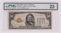 1928 $50 Fifty-Dollars U.S. Gold Certificate Currency Bank Note Bill (PMG 25, Fr. 2404)