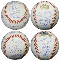 2016 Chicago Cubs World Series Champion Team-Signed 2016 World Series Baseball with (23) Signatures Including Kris Bryant, Anthony Rizzo, Ben Zobrist, Javier Baez, Kyle Hendricks, Addison Russell (Schwartz COA & Fanatics Hologram) at PristineAuction.com