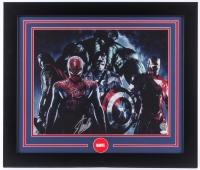 Stan Lee Signed Marvel  23.5x27.5 Custom Framed Photo (JSA COA)