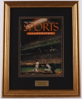 Original First Issue Sports Illustrated 15.5x20 Custom Framed Magazine from August 16, 1954