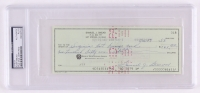 Sam Snead Signed Personal Bank Check (PSA Encapsulated)