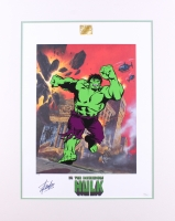 "Stan Lee Signed ""The Incredible Hulk"" 21.5x27 Custom Matted Limited Edition Lithoserigraph by Joe Jusko (JSA COA)"