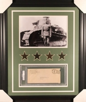General George S. Patton Signed 23x27 Custom Framed Envelope Display (PSA Encapsulated)