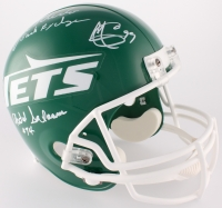 "Jets ""Sack Exchange"" Full-Size Helmet Team Signed by (4) with Marty Lyons, Joe Klecko, Abdul Salaam & Mark Gastineau Inscribed ""Sack Exchange"" (JSA COA)"