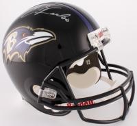 Ed Reed Signed Ravens Full-Size Helmet (PSA COA)