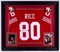 "Jerry Rice Signed 49ers 31.5"" x 36.5"" Custom Framed Jersey (PSA COA)"
