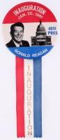 Vintage 1981 Ronald Reagan Inauguration Pin & Ribbon