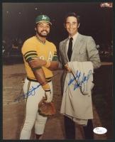 Reggie Jackson & Sandy Koufax Signed 8x10 Photo (JSA COA)