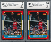 Lot of (2) 1996-97 Fleer Decade of Excellence #4 Michael Jordan (BCCG 10)