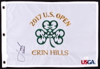 Jordan Spieth Signed 2017 US Open Pin Flag (JSA LOA)