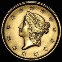 1851 $1 One Dollar Liberty Head Gold Coin (High Grade Condition)