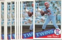 Lot of (10) 1985 Topps #536 Kirby Puckett RC