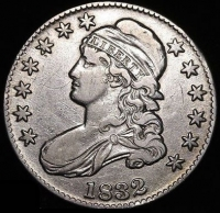 1832 50¢ Capped Bust Silver Half Dollar Coin