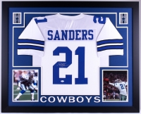 Deion Sanders Signed Cowboys 35x43 Custom Framed Jersey (JSA COA)