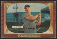1955 Bowman #202 Mickey Mantle UER / (Incorrect birthdate)