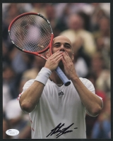 Andre Agassi Signed 8x10 Photo (JSA COA)