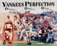 Yankees Perfect Game Pitchers 16x20 Photo Signed & Inscribed by (3) with Don Larson, David Cone & David Wells (JSA COA)