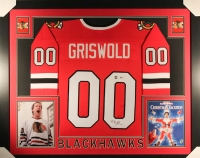 "Chevy Chase Signed Griswold Blackhawks 35"" x 43"" Custom Framed Jersey (Beckett COA & Chase Hologram)"